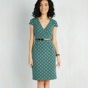 Modcloth | Peace and Clients Polka-Dot Shift Dress